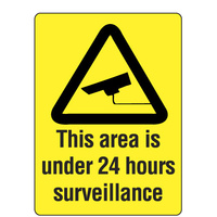 300x225mm - Metal - This Area is Under 24 Hour Surveillance