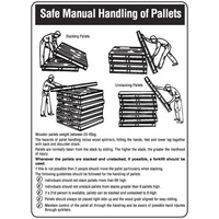 450x300mm - Metal - Safe Manual Handling of Pallets