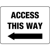 600x450mm - Fluted Board - Access This Way (left Arrow)