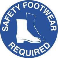 400mm - Self Adhesive, Anti-slip, Floor Graphics - Safety Footwear Required