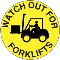 400mm - Self Adhesive, Anti-slip, Floor Graphics - Watch Out for Forklifts
