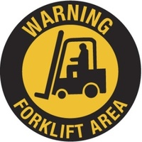 400mm - Self Adhesive, Anti-slip, Floor Graphics - Warning Forklift Area