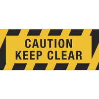 450x180mm - Self Adhesive, Anti-Slip Floor Graphics - Caution Keep Clear