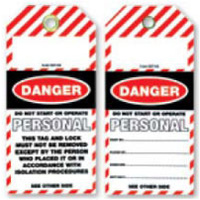 Pkt of 25 Tear Proof - Danger Personal