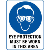 300x225mm - Self Adhesive - Eye Protection Must Be Worn In This Area