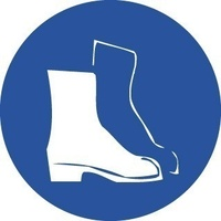 200mm Disc - Self Adhesive - Safety Footwear Pictogram