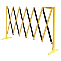 3.5mtr Superguard Expanding Barrier - Black/Yellow
