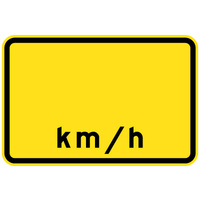 Advisory Speed __km/h