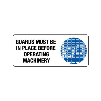 Safety Guards Must Be Used