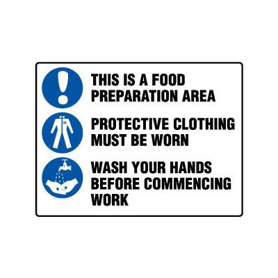 This is a Food Preparation Area etc (with pictos)