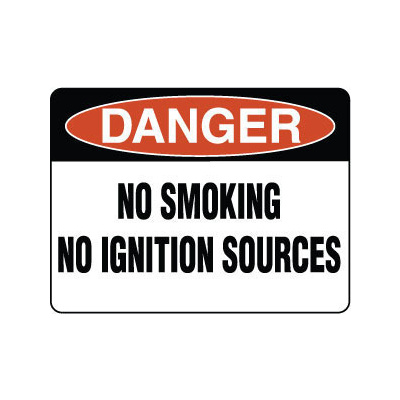 Danger No Smoking No Ignition Sources