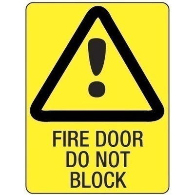 Metal - Fire Door Do Not Block