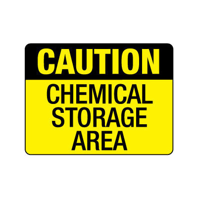 Caution Chemical Storage Area