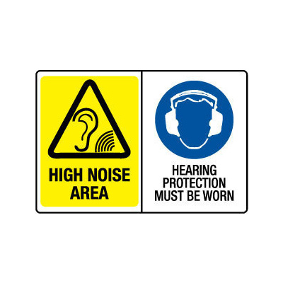 High Noise Area/Hearing Protection Must Be Worn