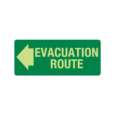 Evacuation Route (with left arrow)