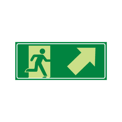Running Man with Arrow Up/Right