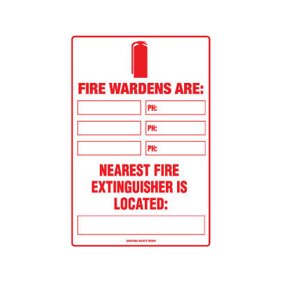 Fire Marshalls Are:  Nearest Fire Extinguisher is Located: