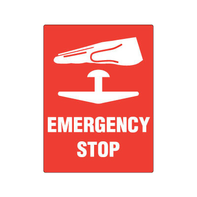 Emergency Stop (With Pictogram)