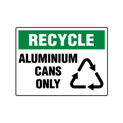 Recycle Aluminium Cans Only