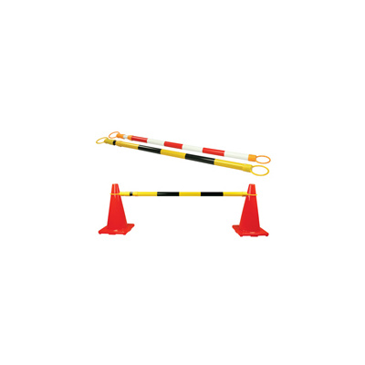 Extendable Cone Bar - Black & Yellow