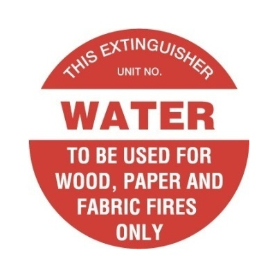 Fire Extinguisher Marker - Water (Red)