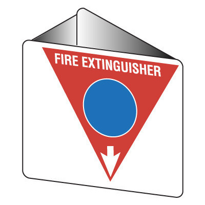 Off Wall - Fire Extinguisher Marker - Foam (Blue)
