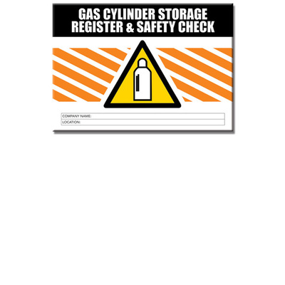 Gas Cylinder Storage log book A5