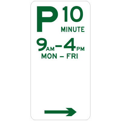 10 Minute Parking (Right Arrow)