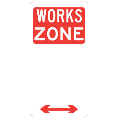Works Zone (Double Arrow)