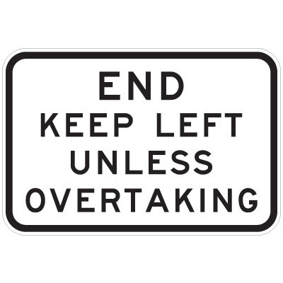 End Keep Left Unless Overtaking