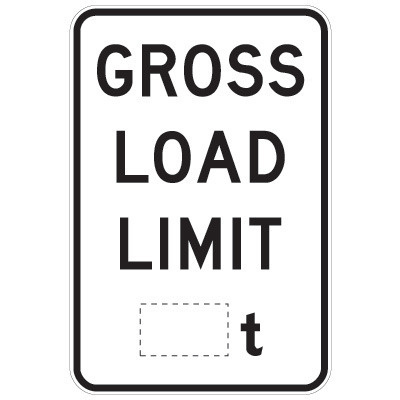Gross Load limit ___t