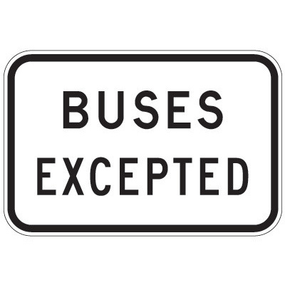 Buses Excepted