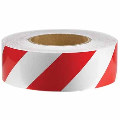 Reflective Tape - Red and White - Class 2 Engineer Grade