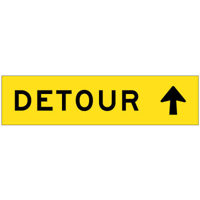 Detour (Arrow Up)