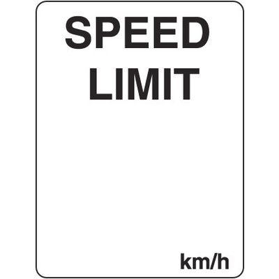 Speed Limit ...km