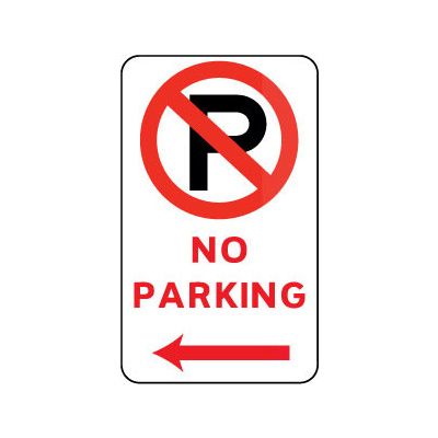 No Parking (With Left Arrow And Symbol)