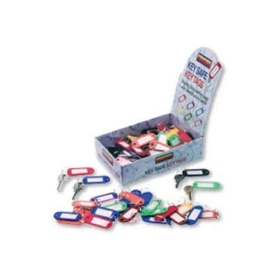 Box of 100 Assorted Colour Key Tags