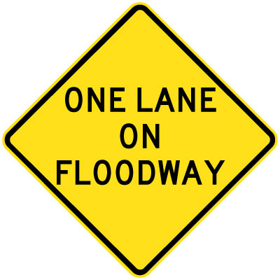 One Lane On Floodway