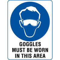 Goggles Must Be Worn In This Area