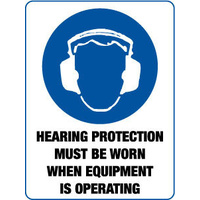 Hearing Protection Must be When when Equipment is Operating