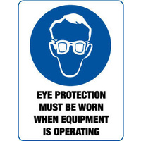 Eye Protection Must be Worn when Equipment is Operating