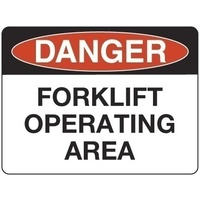 Danger Forklift Operating Area