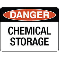 300x225mm - Poly - Danger Chemical Storage