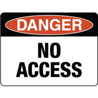 300x225mm - Poly - Danger No Access