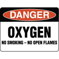 Danger Oxygen No Smoking No Open Flames