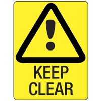 140x120mm - Self Adhesive - Pkt of 4 - Keep Clear
