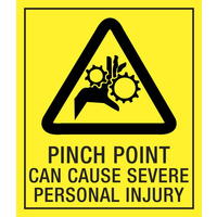 Caution Pinch Point Can Cause Severe Personal Injury