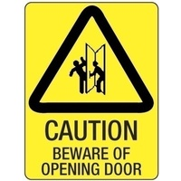 Caution Beware of Opening  Door