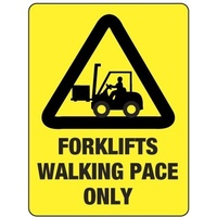 Forklifts Walking Pace Only
