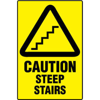 Caution Steep Stairs